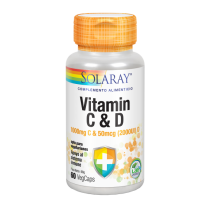 Vitamin C & D 60 caps Solaray